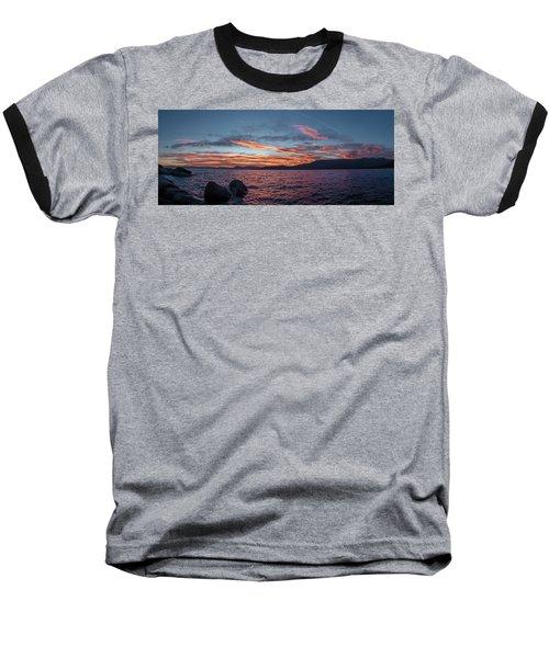 Sand Harbor Sunset Pano2 Baseball T-Shirt