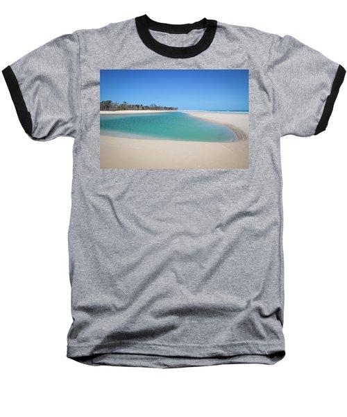 Sand Island Paradise Baseball T-Shirt