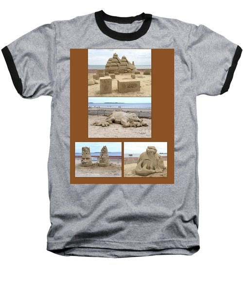 Sand Sculpture Collage Baseball T-Shirt