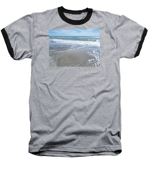 Sand, Sea, Sun, No. 3 Baseball T-Shirt by Ginny Schmidt
