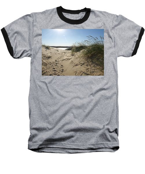 Sand Tracks Baseball T-Shirt