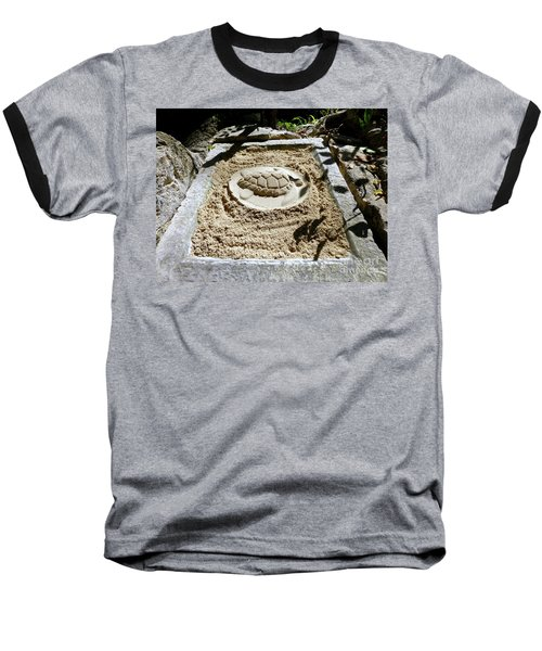 Baseball T-Shirt featuring the photograph Sand Turtle Print by Francesca Mackenney