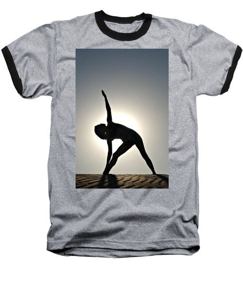 Sand Yoga Baseball T-Shirt