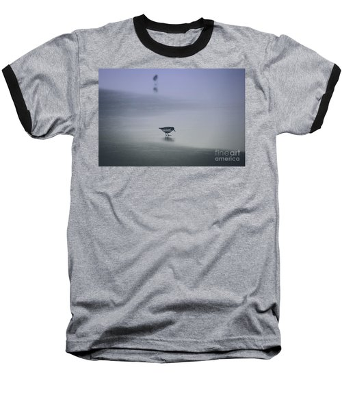 Sanderling Baseball T-Shirt by Sheila Ping
