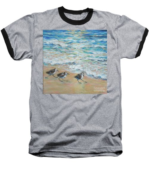 Sanderlings Running Baseball T-Shirt