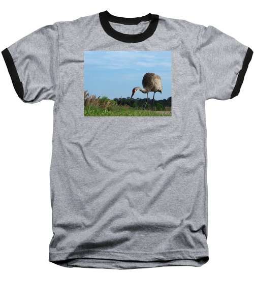 Baseball T-Shirt featuring the photograph Sandhill Crane 018 by Chris Mercer