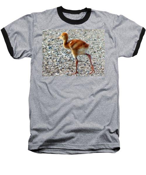 Baseball T-Shirt featuring the photograph Sandhill Crane Chick 003 by Chris Mercer