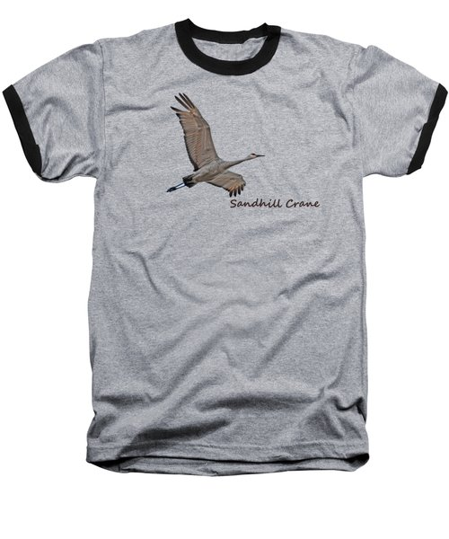Sandhill Crane In Flight Baseball T-Shirt