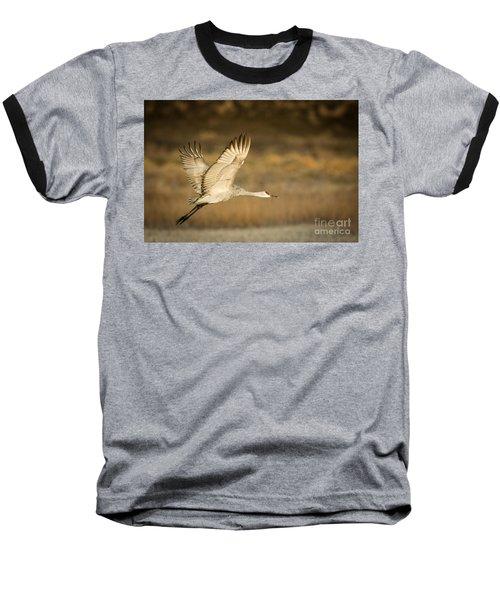 Sandhill Crane Baseball T-Shirt