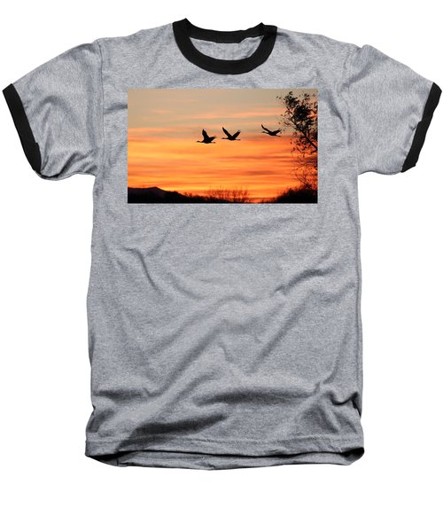 Sandhill Sunrise Baseball T-Shirt