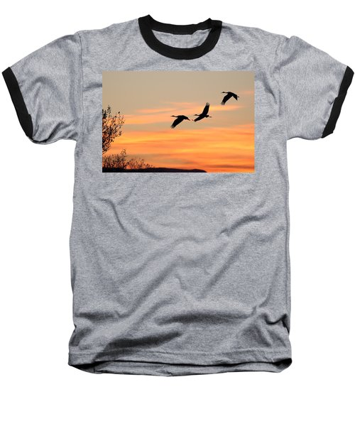 Sandhill Sunrise Three Baseball T-Shirt
