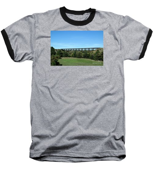 Sandhills Railroad Bridge  Baseball T-Shirt
