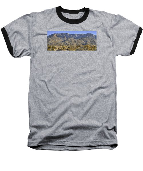 Sandia Mountain Panorama Baseball T-Shirt