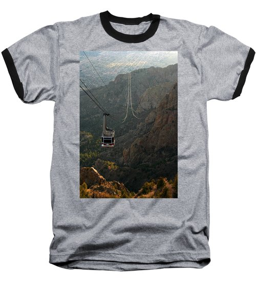 Sandia Peak Cable Car Baseball T-Shirt