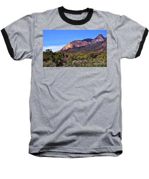 Sandia Sunset Baseball T-Shirt by Gina Savage