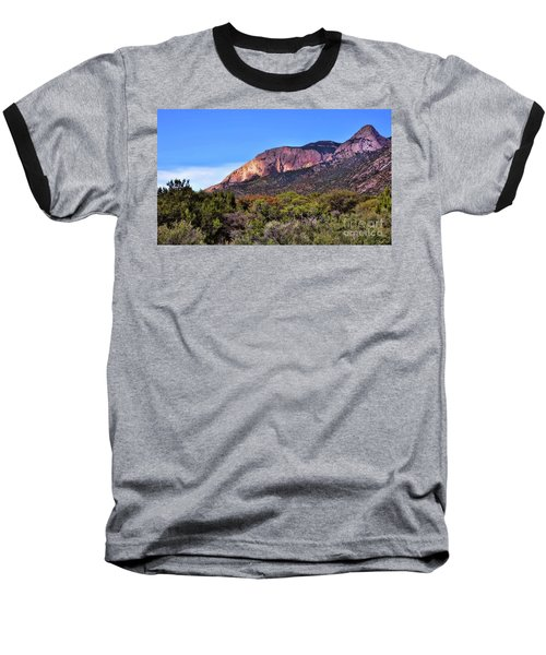 Baseball T-Shirt featuring the photograph Sandia Sunset by Gina Savage