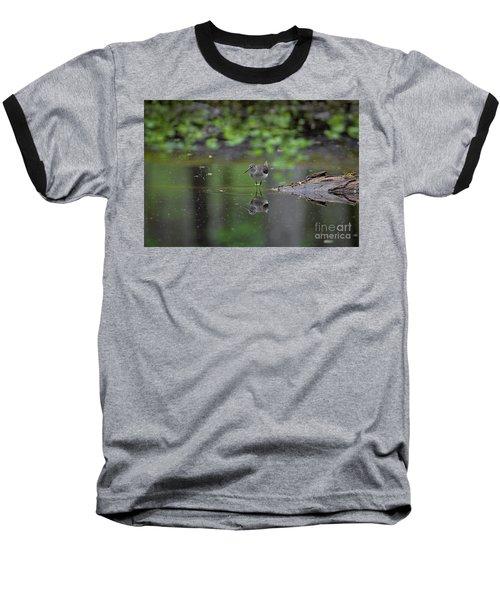 Sandpiper In The Smokies Baseball T-Shirt by Douglas Stucky