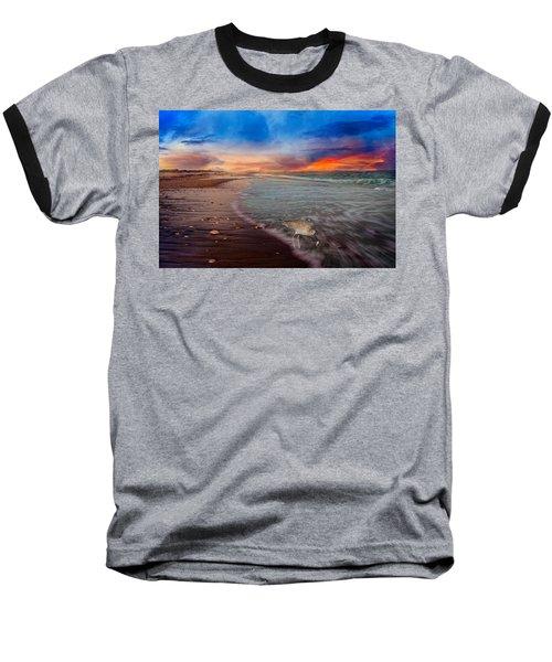 Sandpiper Sunrise Baseball T-Shirt by Betsy Knapp