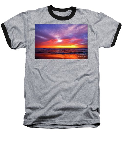 Sandpiper Sunset Ventura California Baseball T-Shirt