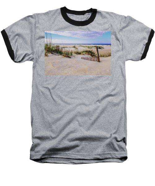 Sand  Fences On The Bogue Banks 2 Baseball T-Shirt