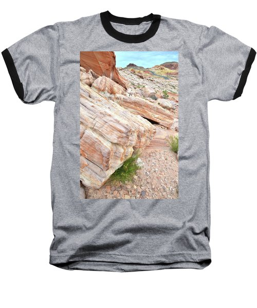 Baseball T-Shirt featuring the photograph Sandstone Along Park Road In Valley Of Fire by Ray Mathis