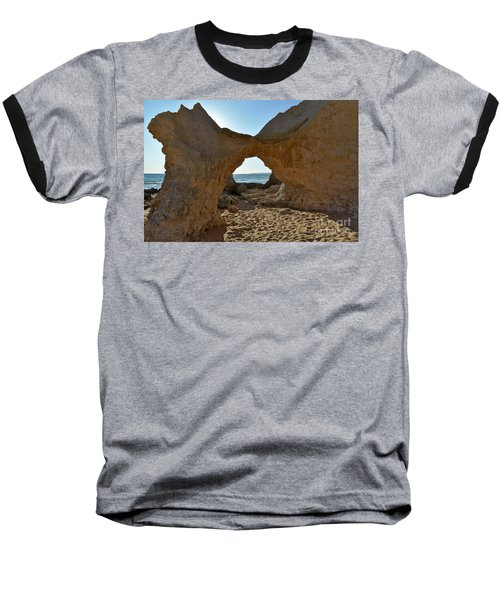 Sandstone Arch In Gale Beach. Algarve Baseball T-Shirt