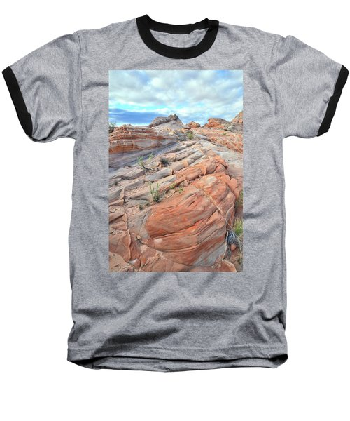 Sandstone Crest In Valley Of Fire Baseball T-Shirt by Ray Mathis