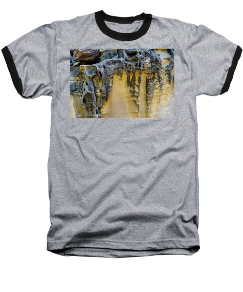 Baseball T-Shirt featuring the photograph Sandstone Detail Syd01 by Werner Padarin