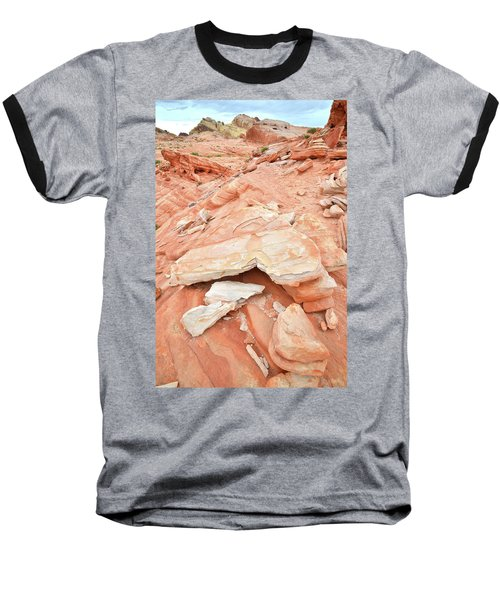 Baseball T-Shirt featuring the photograph Sandstone Heart In Valley Of Fire by Ray Mathis