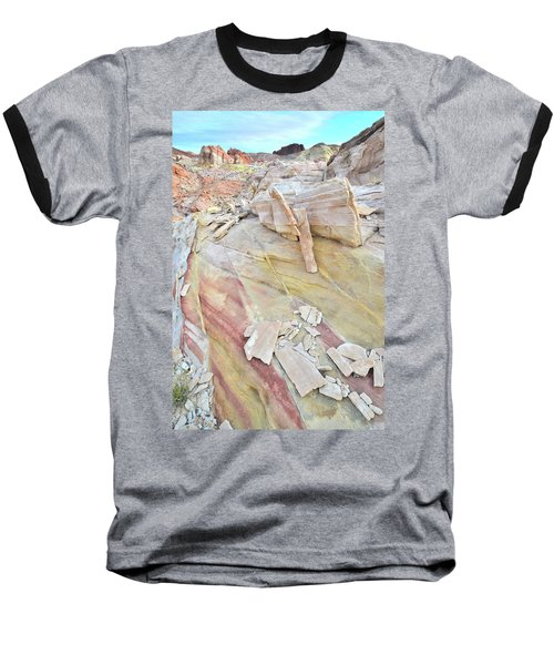 Sandstone Rainbow In Valley Of Fire Baseball T-Shirt by Ray Mathis