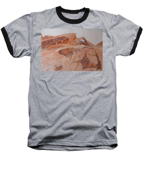Sandstone Rainbow Baseball T-Shirt by Joel Deutsch