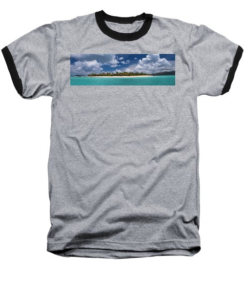 Baseball T-Shirt featuring the photograph Sandy Cay Beach British Virgin Islands Panoramic by Adam Romanowicz