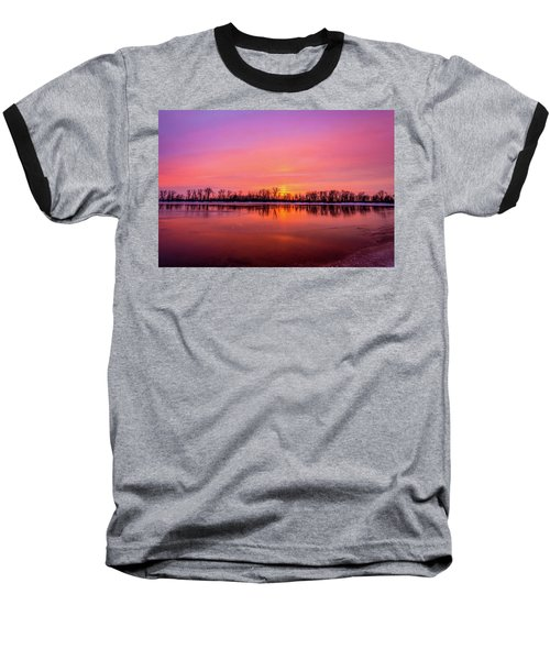 Sandy Chute Sunset Baseball T-Shirt