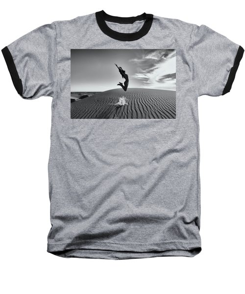Sandy Dune Nude - The Jump Baseball T-Shirt