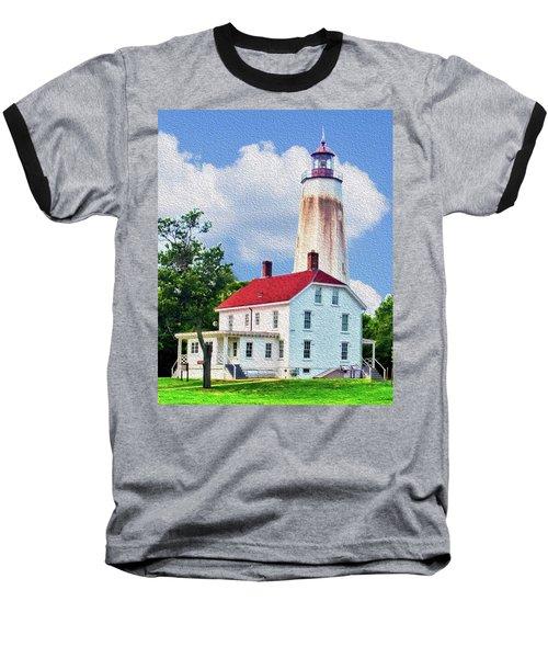 Sandy Hook Light House Baseball T-Shirt