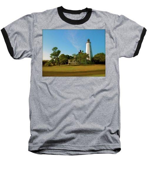 Sandy Hook Lighthouse Baseball T-Shirt