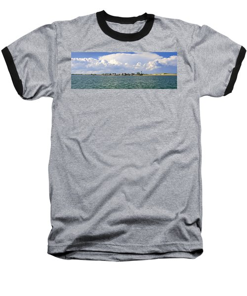 Sandy Neck Cottage Colony Baseball T-Shirt by Charles Harden