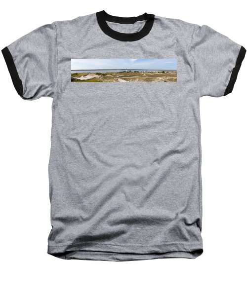 Sandy Neck Lighthouse With Fishing Boat Baseball T-Shirt