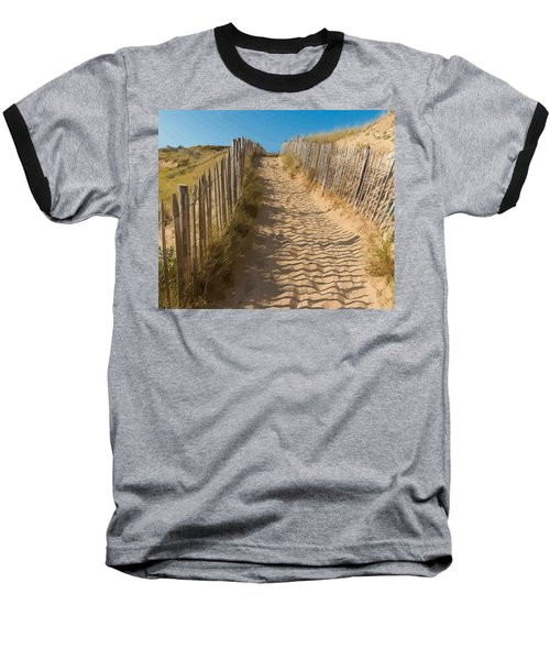 Sandy Pathway To The Beach Baseball T-Shirt
