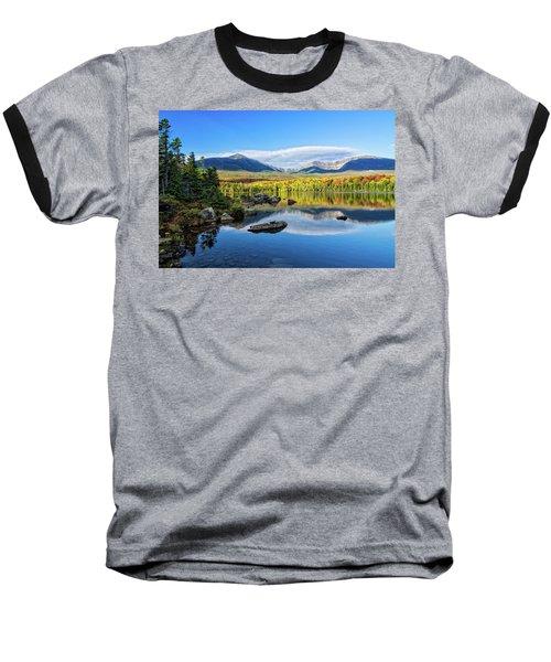 Sandy Stream Pond Baxter Sp Maine Baseball T-Shirt by Michael Hubley