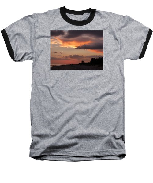 Sanibel At Dusk Baseball T-Shirt by Melinda Saminski