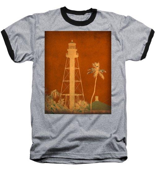 Sanibel Island Lighthouse Baseball T-Shirt