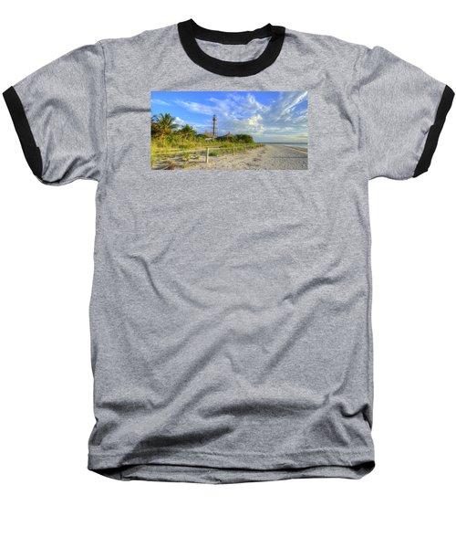 Sanibel Light House Baseball T-Shirt by Sean Allen