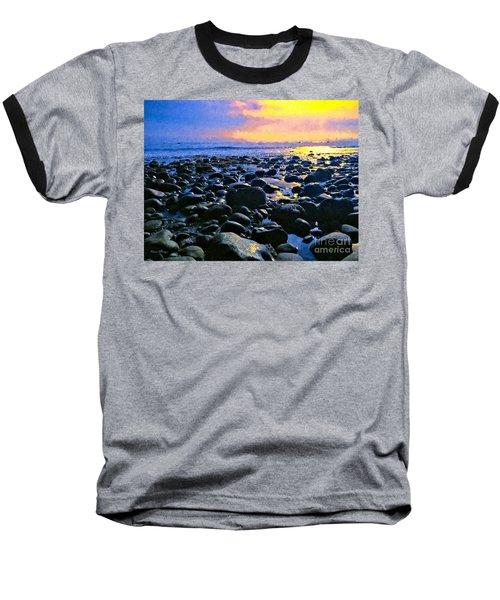 Santa Barbara Beach Sunset California Baseball T-Shirt