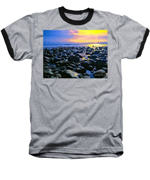 Santa Barbara Beach Sunset California Baseball T-Shirt