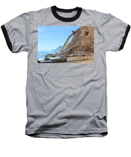 Santa Barbara Coast Baseball T-Shirt by Viktor Savchenko