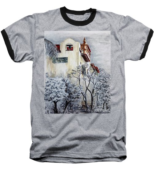Santa Barbara Courthouse Bell Tower Baseball T-Shirt