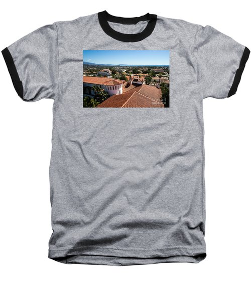 Santa Barbara From Above Baseball T-Shirt