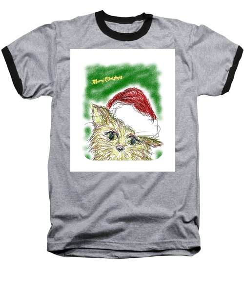 Santa Cat Baseball T-Shirt