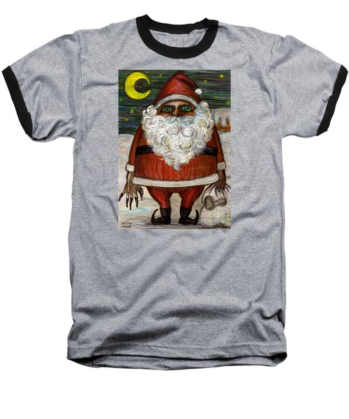 Santa Claus By Akiko Baseball T-Shirt by Akiko Okabe